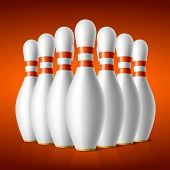 Bowling pins. Vector.