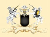 picture of armorial-bearings  - Heraldic composition with black arms - JPG