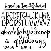 Handwritten Aphabet. Modern Calligraphy Vector Font. poster