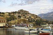 View Across The Harbour To Molyvos Castle