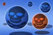 Virus or malware digital security breach