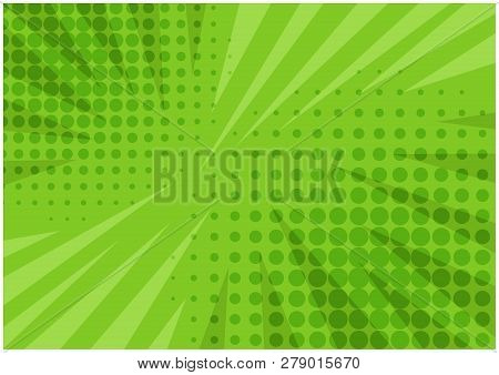 Abstract Bright Green Striped Retro