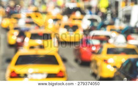 Rush Hour With Defocused Yellow