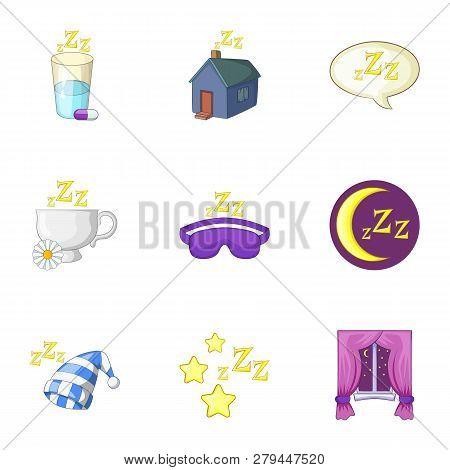Time To Sleep Icons Set