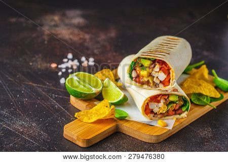 Grilled Burritos Wraps With Chicken