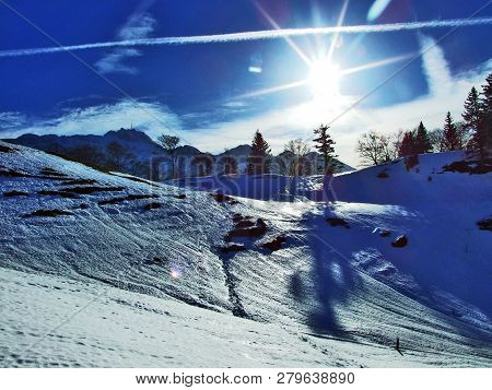 Winter Game Of Light And Shadow In The Swiss Alps Canton