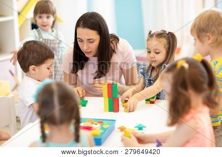 Kids Playing With Educational Toys
