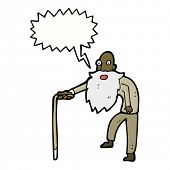 oude man walking cartoon