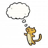happy daydreaming cat cartoon