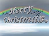 Merry Christmas In Letters Against Sky.
