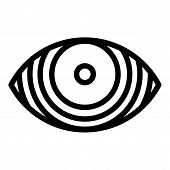 Concentrated Eye Icon. Outline Concentrated Eye Vector Icon For Web Design Isolated On White Backgro poster