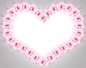 Roses And Heart Frame