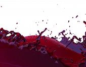 Fruit Juice Splash Red Fruity Liquid Splashing 3d Illustration poster
