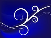 Blue Swirly Background