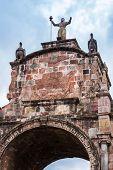 Arco Santa Clara in Cusco Peru South America.  poster