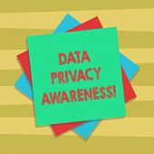 Text Sign Showing Data Privacy Awareness. Conceptual Photo Respecting Privacy And Protect What We Sh poster