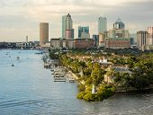 View of downtown Tampa, Florida from the harbor. poster