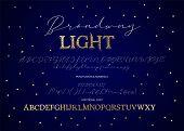 Decorative Script Duo Font. Serif And Script. Alphabet Vector Calligraphy Signs. Letter Vector Set.  poster