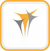 Vector abstract internet icon. Orange set. Simply change. Other abstract icons you can see in my portfolio.