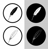 vector icons of feather
