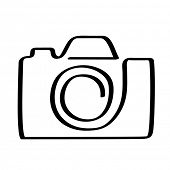 vector icon of camera