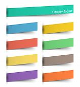 Sticky Note . Multicolor And Inserted Floating Paper Design . Vector . poster