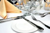 Configuração de um jantar formal