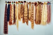 Premium Hair Extension Palette With Color Samples From Blonde To poster