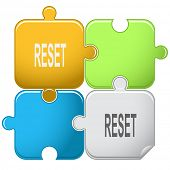 Reset. Vector puzzle.