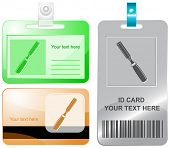 Chisel. Vector id cards.