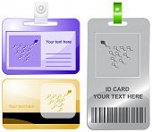 Spermatozoon. Vector id cards.