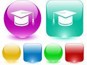 Graduation cap. Vector interface element.
