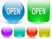 Open. Vector interface element.