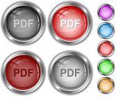 Pdf. Vector internet buttons.