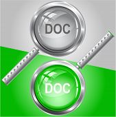 Doc. Vector magnifying glass.