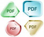 Pdf. Vector sticker.