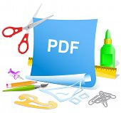 Pdf. Vector paper template.