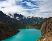 Phoksundo Lake In Shey Phoksundo National Park, Dolpo Area, Nepal