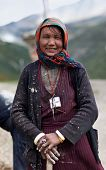 Tibetan woman from Dolpo, Nepal