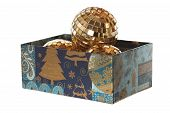 Xmas Balls In The Parallelepiped New Year Box Without Cap