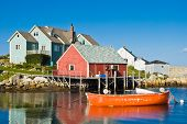 Fisherman\'s House And Boats