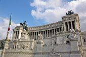 View On The Piazza Venezia In Rome