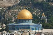foto of mosk  - The mosque of Al aqsa and the monastery of Mary Magdalena in the background - JPG