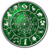 Green Zodiac Disc