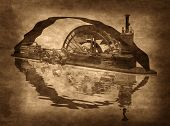 Grungy Steampunk Boat