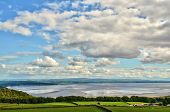 View over the Morecambe Bay estuary
