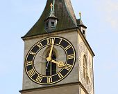 St. Peter\'S Church Tower In Zurich
