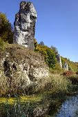 Limestone Rock Called Maczuga Herkulesa In Poland
