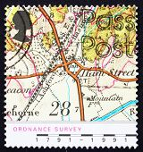 Postage stamp GB 1991 Map of Village of Hamstreet,Kent