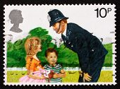 Postage stamp GB 1979 Police Constable and Children